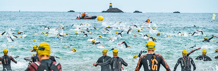 Participez à l'épreuve olympique du Triathlon Dinard Côte d'Emeraude - Lepape le dimanche 12 septembre 2021 à partir de 09:00.